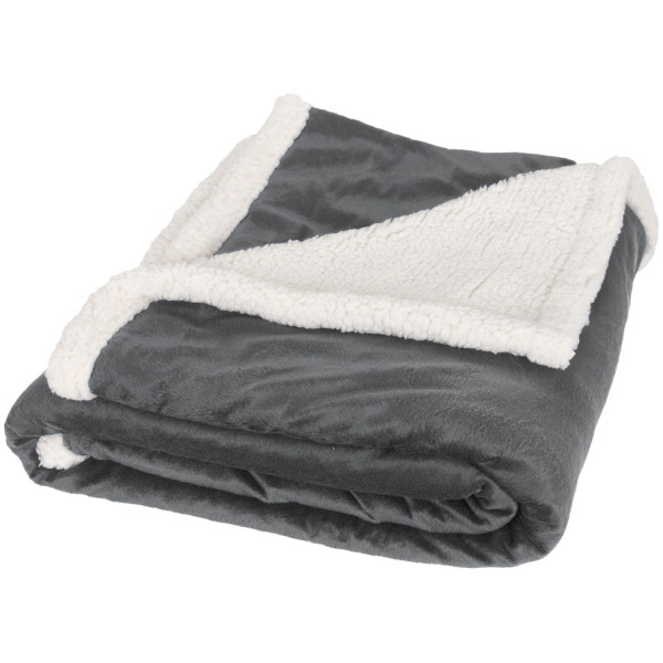Lauren sherpa fleece plaid blanket