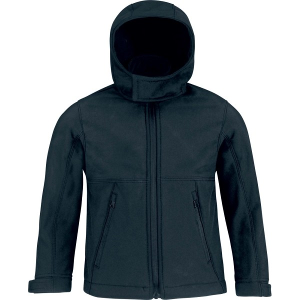 Kids' hooded softshell jacket