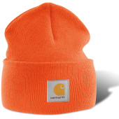 Acrylic watch hat bright orange one size