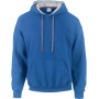Heavy blend™ classic fit adult contrast hooded sweatshirt royal blue / sport grey xxl