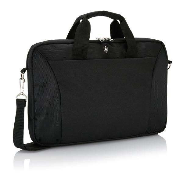 "Swiss Peak slim 15.4"" laptop tas, zwart"