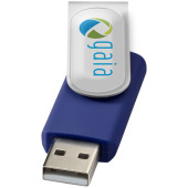 Rotate-doming USB 2GB - Blauw/Zilver