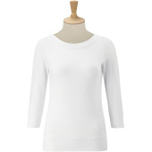3/4 sleeve stretch top white l