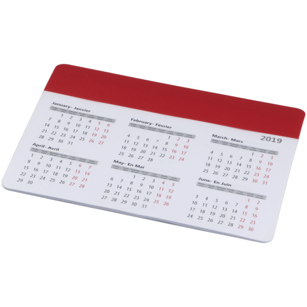 Chart mouse pad with calendar
