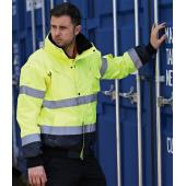 3-in-1 Hi-Vis Bomber Jacket, Yellow/Navy, L, Portwest