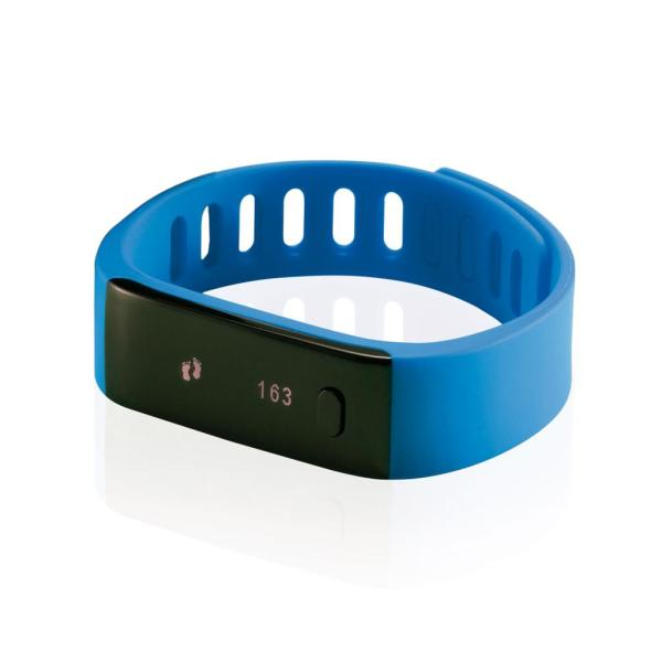 Activity tracker, blauw/zwart