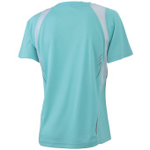 Ladies' Running-T - mint/wit