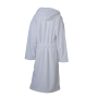 Functional Bath Robe Hooded - wit