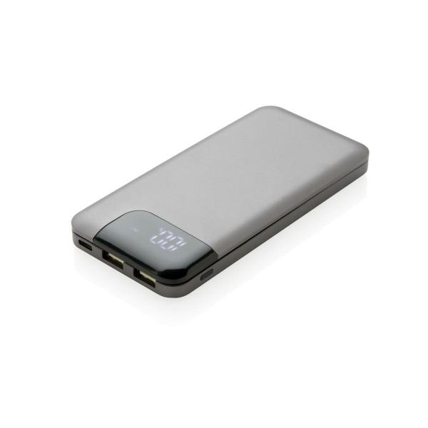 Bedrukte Swiss Peak 8.000 mAh powerbank, grijs