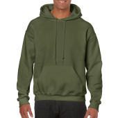 Gildan Sweater Hooded HeavyBlend for him Military Green S