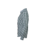 Ladies' Checked Blouse bosgroen/wit