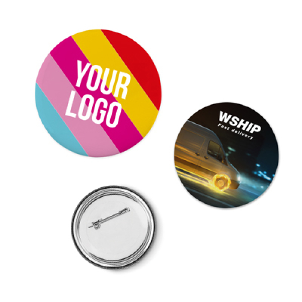 Full colour printed Pin Button