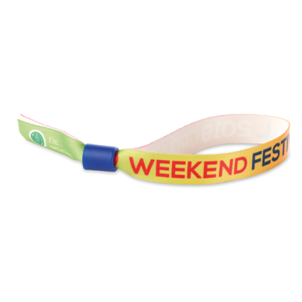 RPET wristband with full colour logo