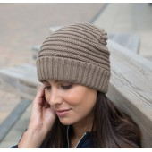 Braided knit hat fennel one size