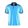 Craft Noble polo pique shirt men aqua/navy 4xl
