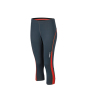 Ladies' Running Tights 3/4 ijzergrijs/grenadine