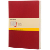Cahier Journal XL - ruitjes - Cranberry rood