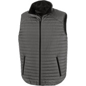 Bodywarmer thermoquilt grey / black xxl