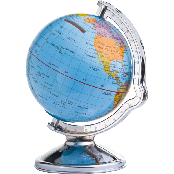 Savings box in globe shape