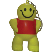 Anti-stress smiley man sleutelhanger