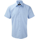 Men's short sleeve herringbone shirt