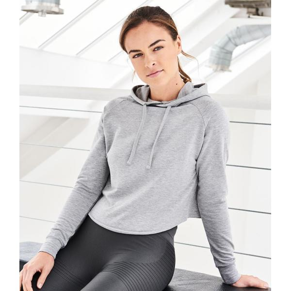 AWDis Ladies Cool Cross Back Cropped Hoodie