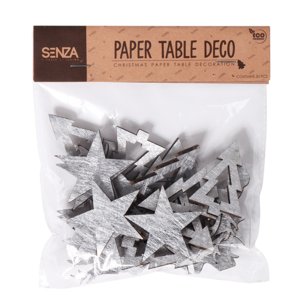 SENZA Paper Table Deco Silver /30