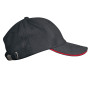 slate grey / red one size