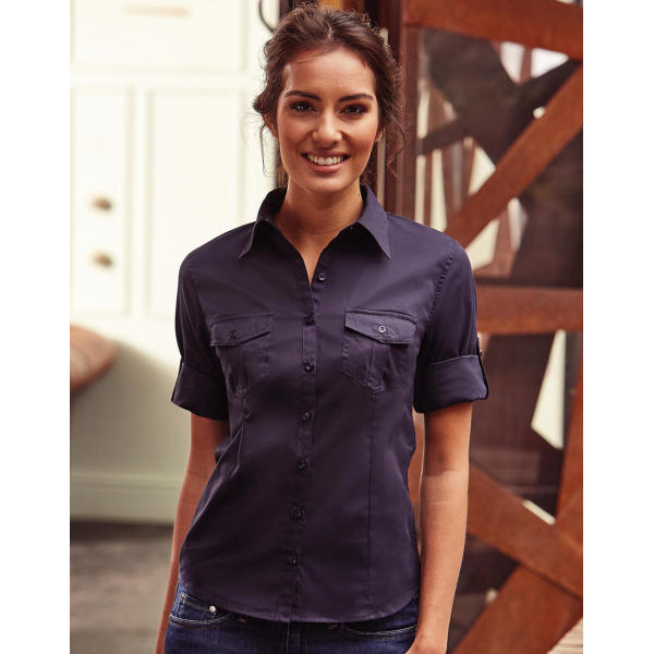 Ladies' Roll 3/4 Sleeve Shirt