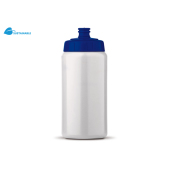Sportbidon Basic 500ml wit / blauw