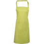 Colours bib apron with pocket lime one size