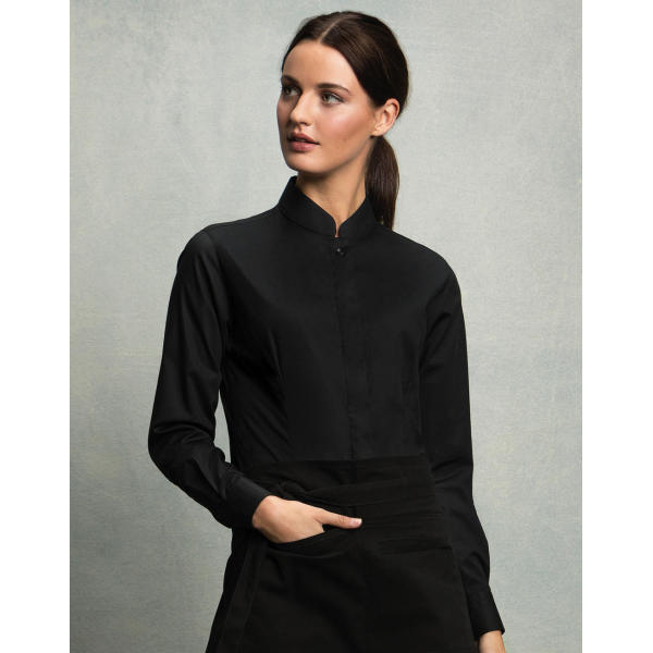 Women's Tailored Fit Mandarin Collar Shirt