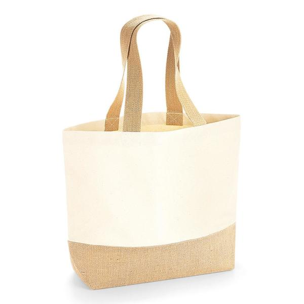 Jute Base Canvas Tote