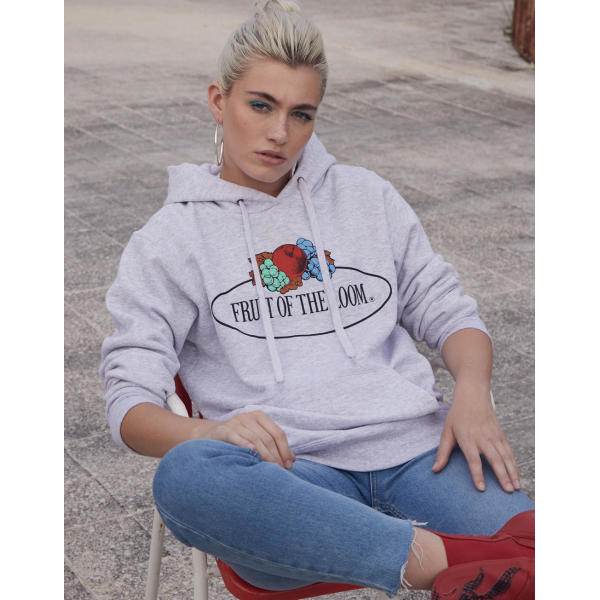 Ladies Vintage Hooded Sweat Large Logo Print