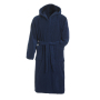 Bath Robe Hooded donker navy
