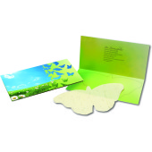 Butterfly Card, summer flowers