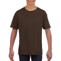 Gildan T-shirt SoftStyle SS for kids Dark Chocolate XS