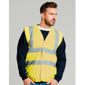 4-Band Safety Waistcoat Class 2 - Hi-Vis Orange