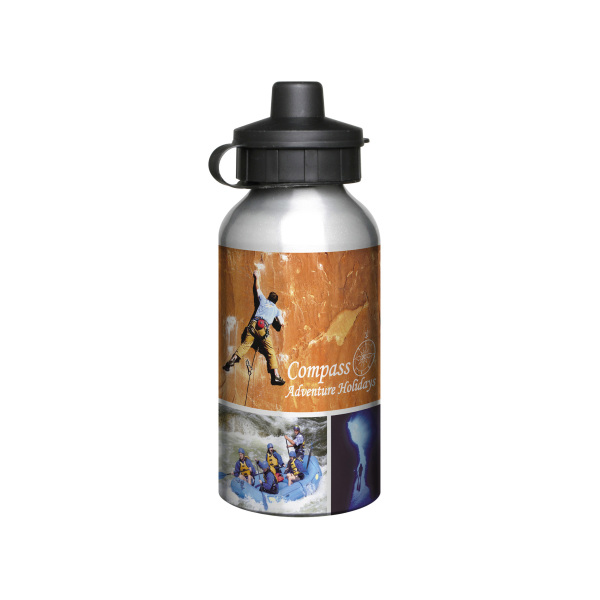 Bedrukte Aluminium 400ml Silver Drink Bottle