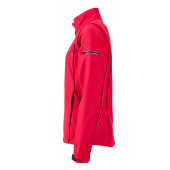 Ladies' Zip-Off Softshell Jacket - rood/zwart