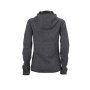 Ladies' Knitted Fleece Hoody - donker-melange/zwart