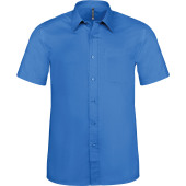 Ace - heren overhemd korte mouwen light royal blue l