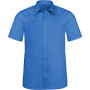 Ace - heren overhemd korte mouwen light royal blue 4xl