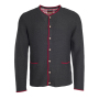 Men's Traditional Knitted Jacket antraciet melange/rood/rood
