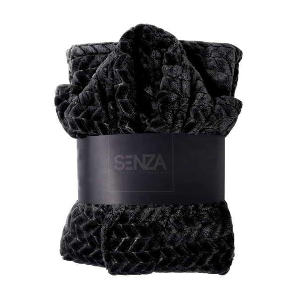SENZA Fishbone Bathrobe Black