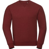 Authentic crew neck melange sweatshirt brick red melange 3xl