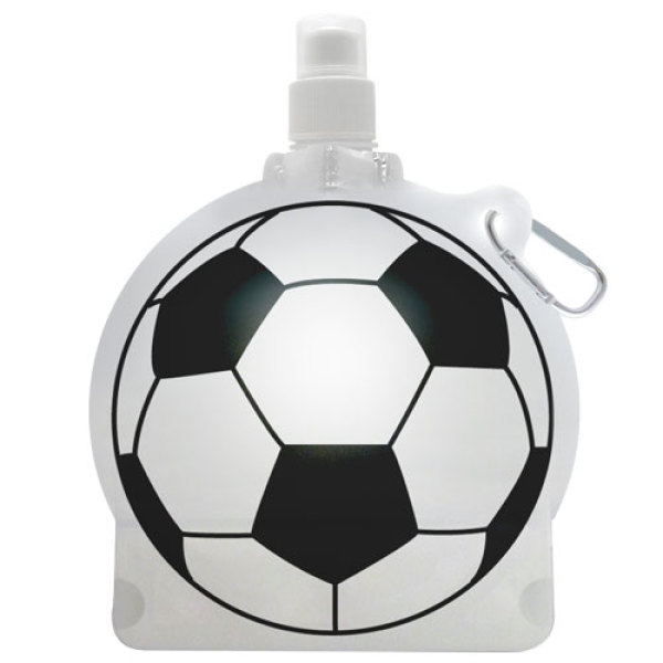 Football Shape Drink Water Bottle with Carabiner Hooks