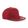 5 Panel Snapback Rapper Cap - Classic Red