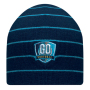 Double layer beanie with coloured stripes