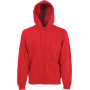 Classic hooded sweat jacket (62-062-0) red xxl
